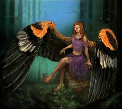 Autumn's Wings Art Print by Poppy Paizs