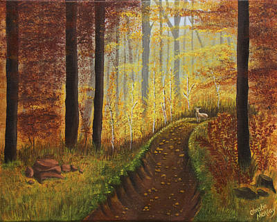 Painting - Autumn's Wooded Riverbed by Christie Nicklay