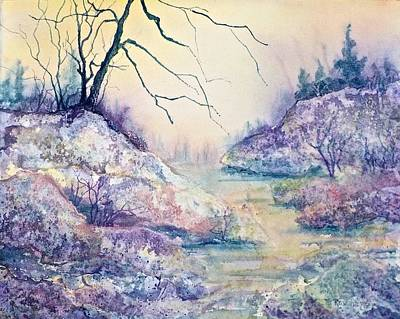 Painting - Autumnscape In Purple by Carolyn Rosenberger