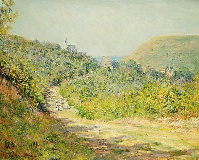 Meandering Painting - Aux Petites Dalles by Claude Monet