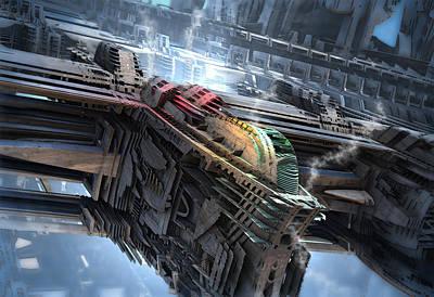 Digital Art - Auxiliary Shuttle by Hal Tenny