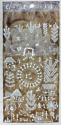 Indian Tribal Art Painting - Av 17 by Anil Chaitya Vangad