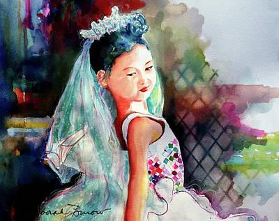Painting - Ava Ballerina by Deborah Burow