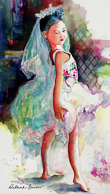 Painting - Ava Ballerina Full by Deborah Burow