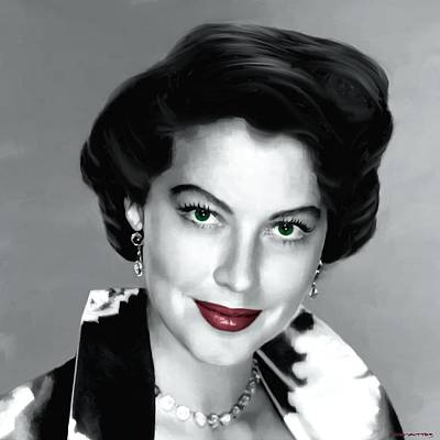 Digital Art - Ava Gardner Large Portrait #1 by Gabriel T Toro