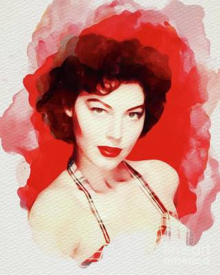 Painting - Ava Gardner, Vintage Movie Star by John Springfield