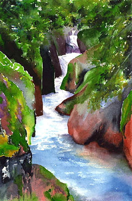 Painting - Avalanche Creek - Glacier by Marsha Karle