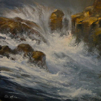 Art Of Mia Delode Painting - Avalanche Falls by Mia DeLode