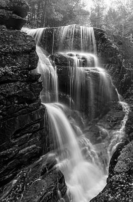 Photograph - Avalanche Falls Of Franconia Notch   by Expressive Landscapes Fine Art Photography by Thom