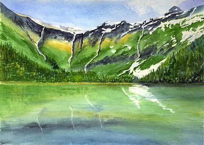 Painting - Avalanche Lake - Glacier by Marsha Karle