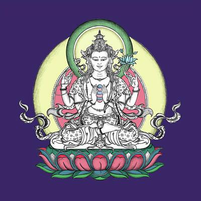 Avalokiteshvara Art Print by Carmen Mensink