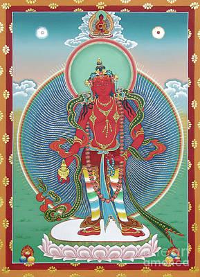 Painting - Avalokiteshvara Korwa Tongtrug by Sergey Noskov