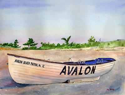 Avalon Beach Patrol Art Print by Paul Temple