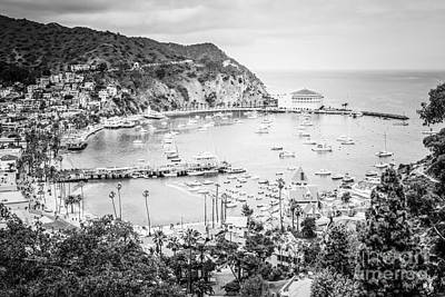 Avalon California Black And White Photo Art Print by Paul Velgos