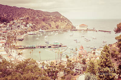 Avalon California Catalina Island Retro Photo Art Print by Paul Velgos