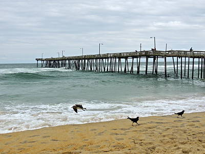 Avalon Fishing Pier Art Print
