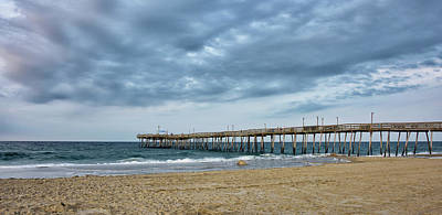 Photograph - Avalon Fishing Pier In Kill Devil Hills by Brendan Reals