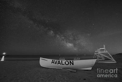 Avalon Milky Way Bw Art Print