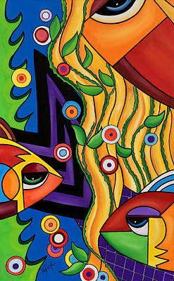 Storytellers Wall Art - Painting - Avalon by Pam Reinke