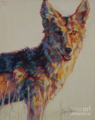 Coyote Painting - Avantist by Patricia A Griffin