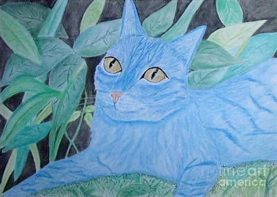 Wall Art - Painting - Avatar Cat by Cybele Chaves
