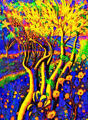 Branches Painting - Avatar Forest - Pa by Leonardo Digenio