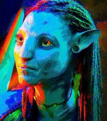 Indigenous Digital Art - Avatar  - Free Style -  - Da by Leonardo Digenio