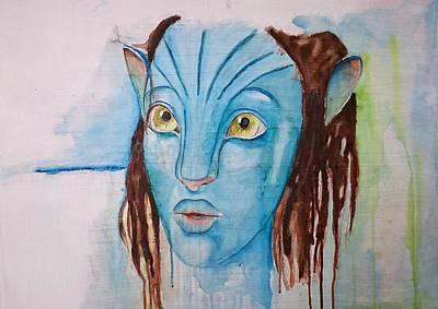 Painting - Avatar Interpretation.... by Jacqueline Schreiber