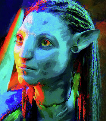 Film Painting - Avatar - Free Style Over Oil Canvas by Leonardo Digenio