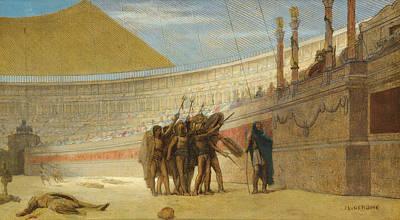 Jean-leon Gerome Painting - Ave Caesar Morituri Te Salutant by Jean-Leon Gerome