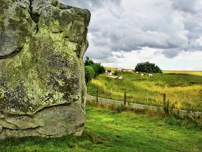 Avebury Standing Stone And Sheep Art Print