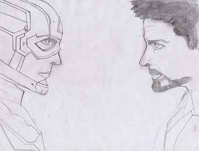 Ironman Drawing - Avengers by AG Suelto