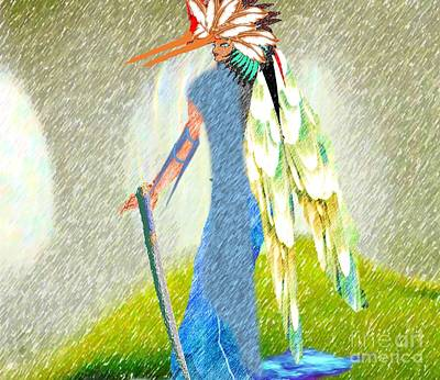 Painting - Avenging Angel by Belinda Threeths