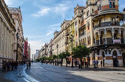 City Scenes Photograph - Avenida Constitucion - Seville Spain  by Andrea Mazzocchetti