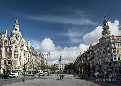 Photograph - Avenida Dos Aliados Main Square Of Central Porto Portugal  by Jacek Malipan
