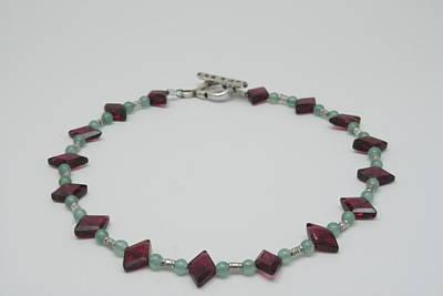 Sterling Silver Bracelet Jewelry - Aventurine And Garnet by Jerri Nielsen