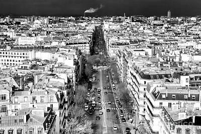 Photograph - Avenue De Wagram Paris by John Rizzuto