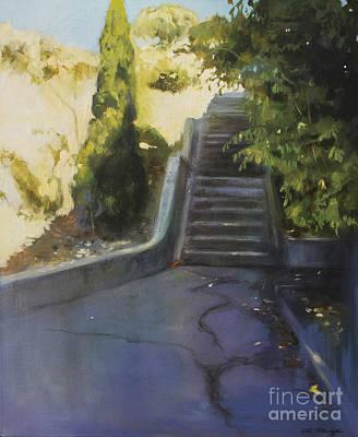 Avenue Gravier - The Shortcut Art Print by Lin Petershagen