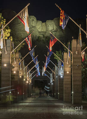 Jefferson Photograph - Avenue Of Flags by Juli Scalzi