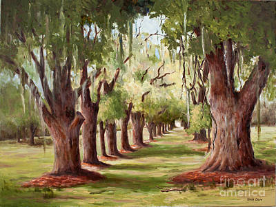 Painting - Avenue Of Oaks Iv  by Glenda Cason