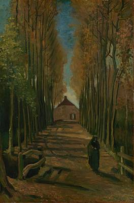 Autumn Painting - Avenue Of Poplars In Autumn Nuenen by MotionAge Designs
