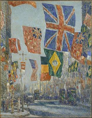 Avenue Of The Allies Great Britain 1918 Original by Childe Hassam