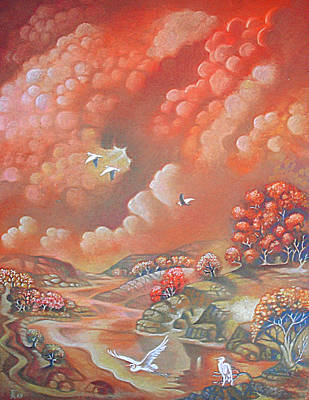 Pastel - Avian Landscape by Gary Renegar