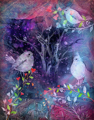 Digital Art - Avian Midnight by Linda Carruth