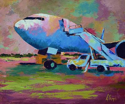 Painting - Aviation Ground Handling 1 by Angel Reyes