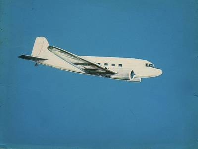 Dc-3 Painting - Aviation In Blue And White by Frank Hunter