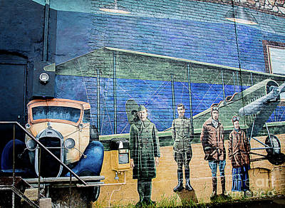 Photograph - Aviation Mural #6 by Deborah Klubertanz