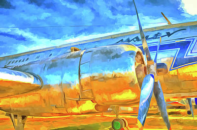 Mixed Media - Aviation Pop Art by David Pyatt
