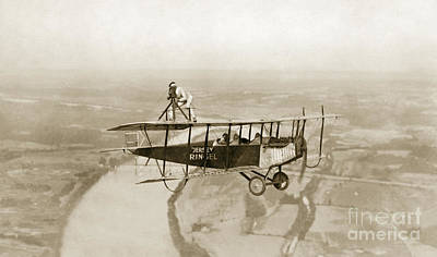 Photograph - Aviation, Stunt, 1921.  by Granger