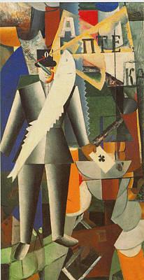 Famous Aviators Painting - Aviator by Kazemir Malevich